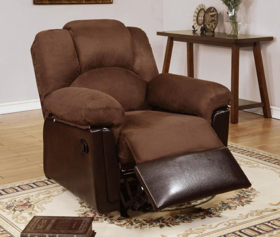 Image of: Brown Leather Rocker Recliner