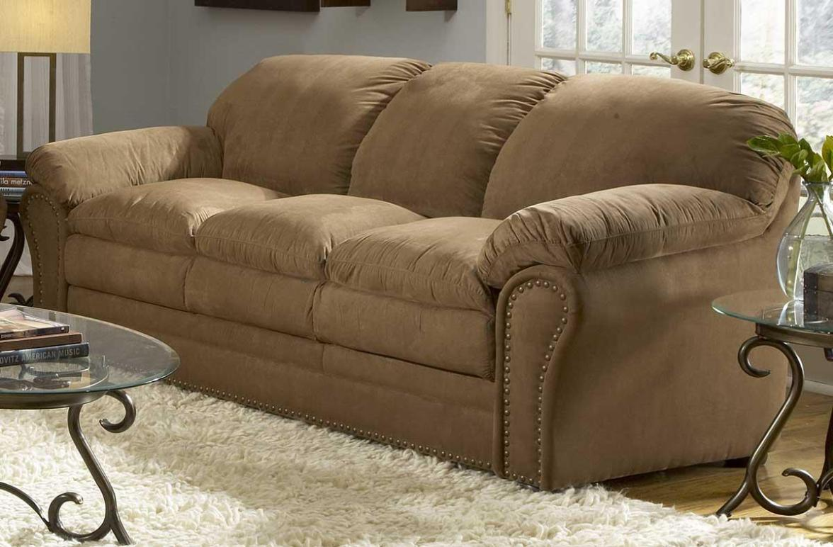 Image of: Brown Microfiber Sectional Couch