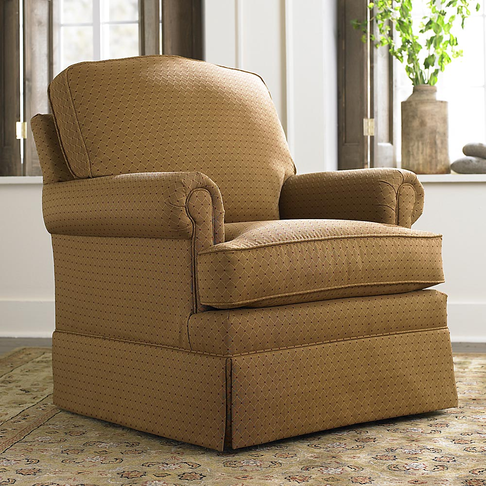 Image of: brown swivel glider chair