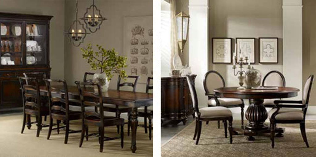 Image of: brown tufted dining chairs