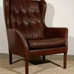 Brown Wingback Dining Chair