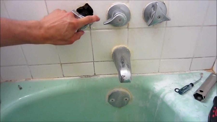 Image of: Build Bathtub Knob Replacement