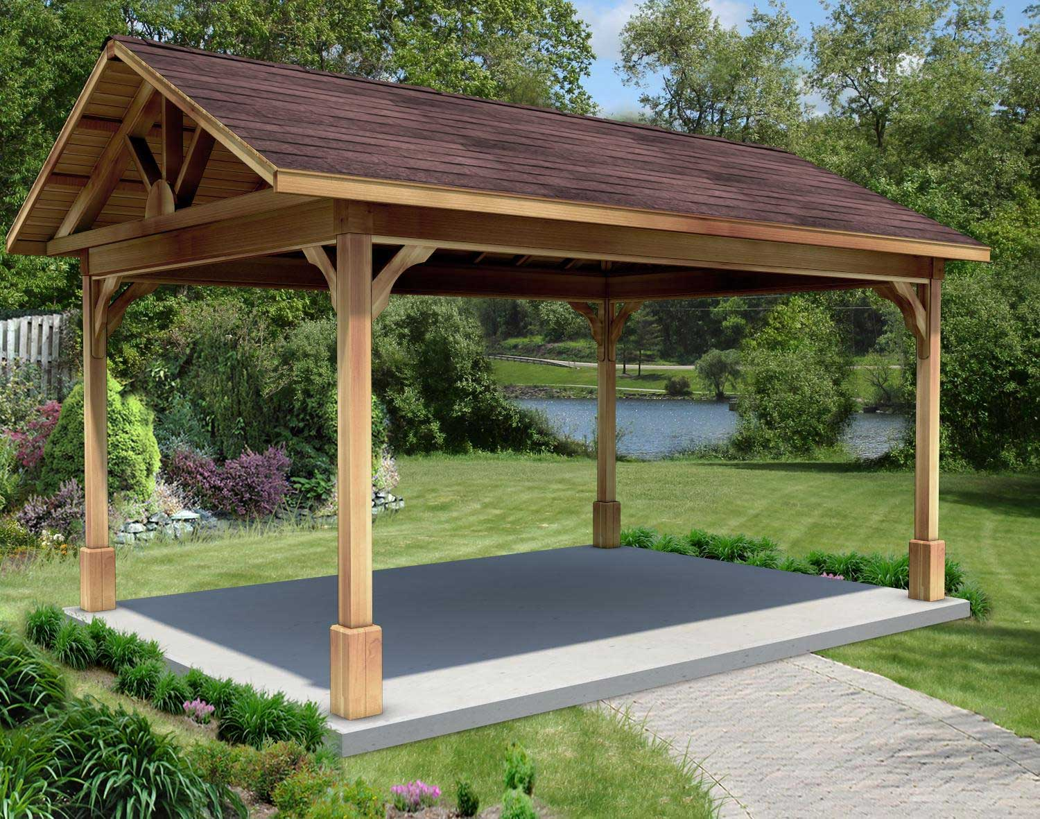 Image of: Build Rectangular Gazebo