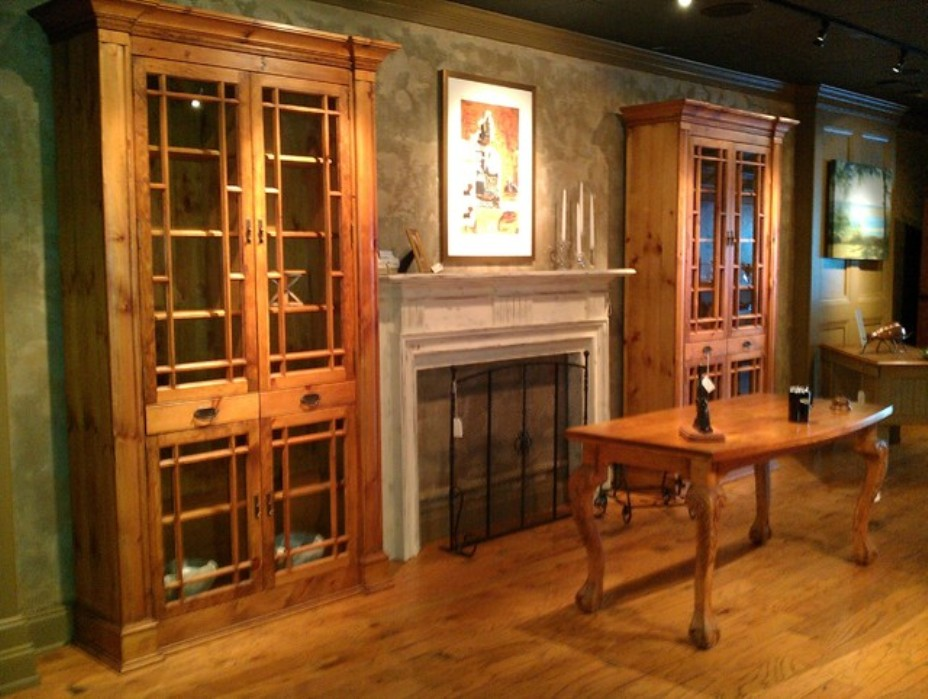 Image of: Build a bookcase with glass doors