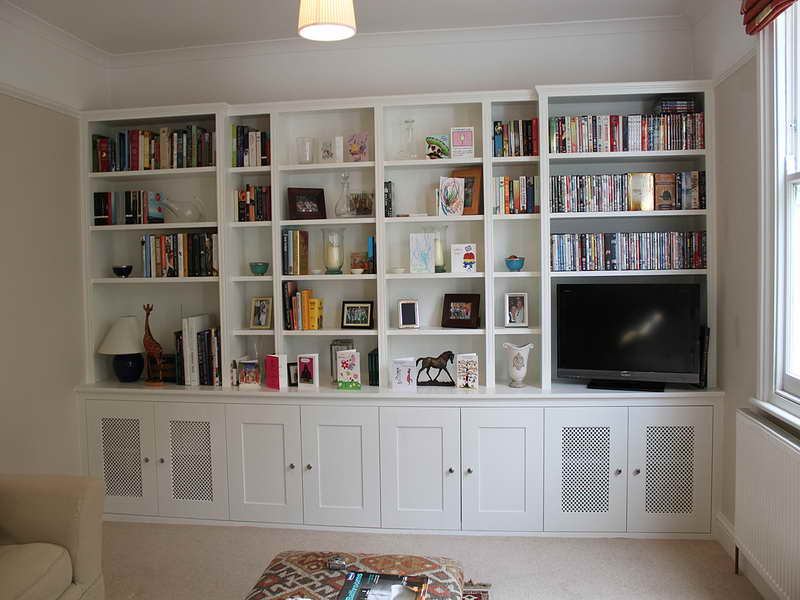 Image of: Built In Bookcase Plans Diy