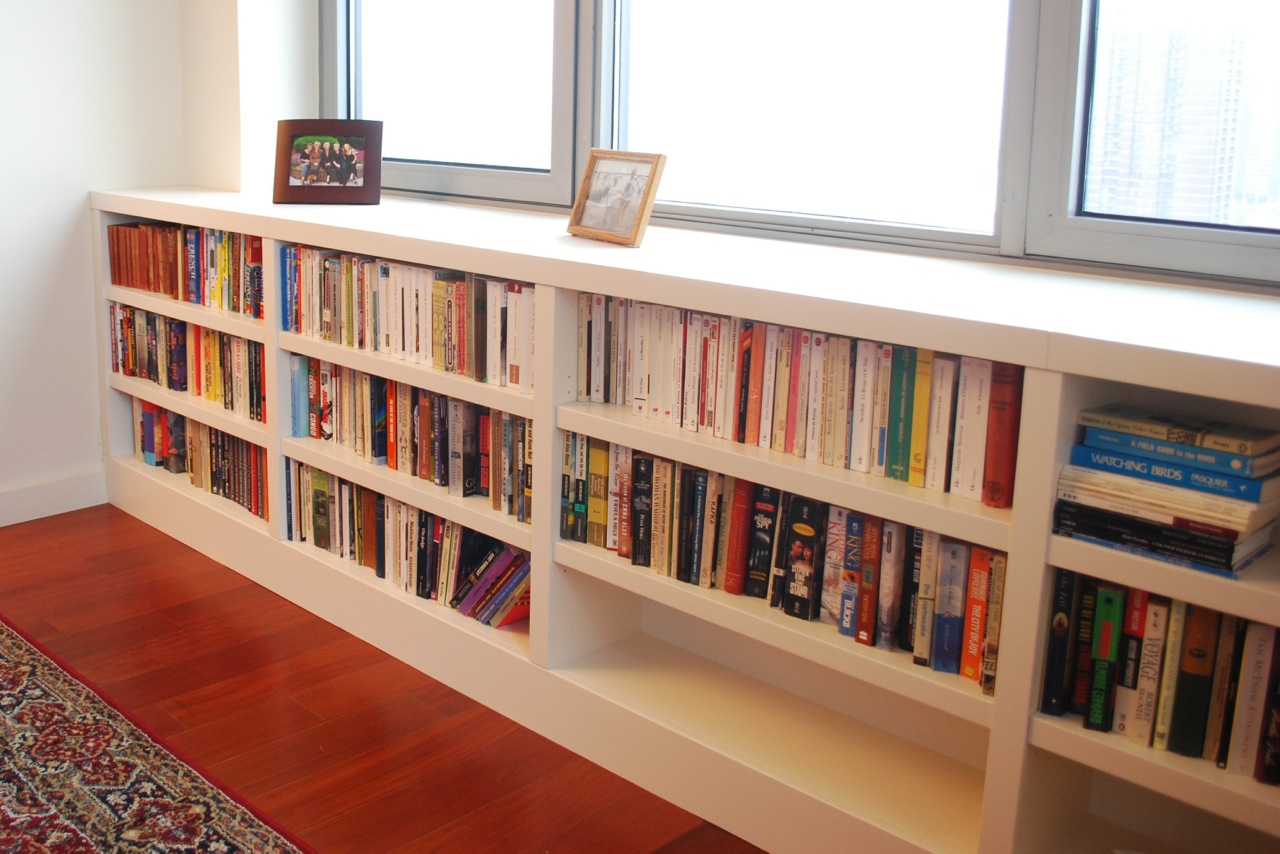 Image of: Built In Bookcase Plans Wood
