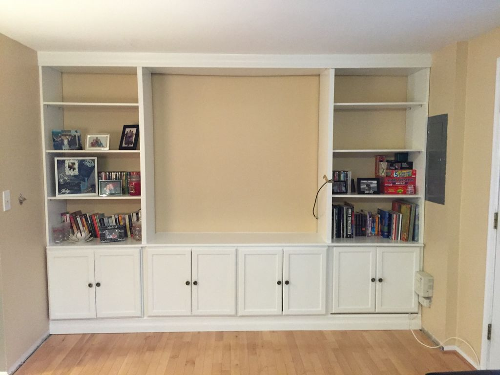 Image of: built in bookshelves diy