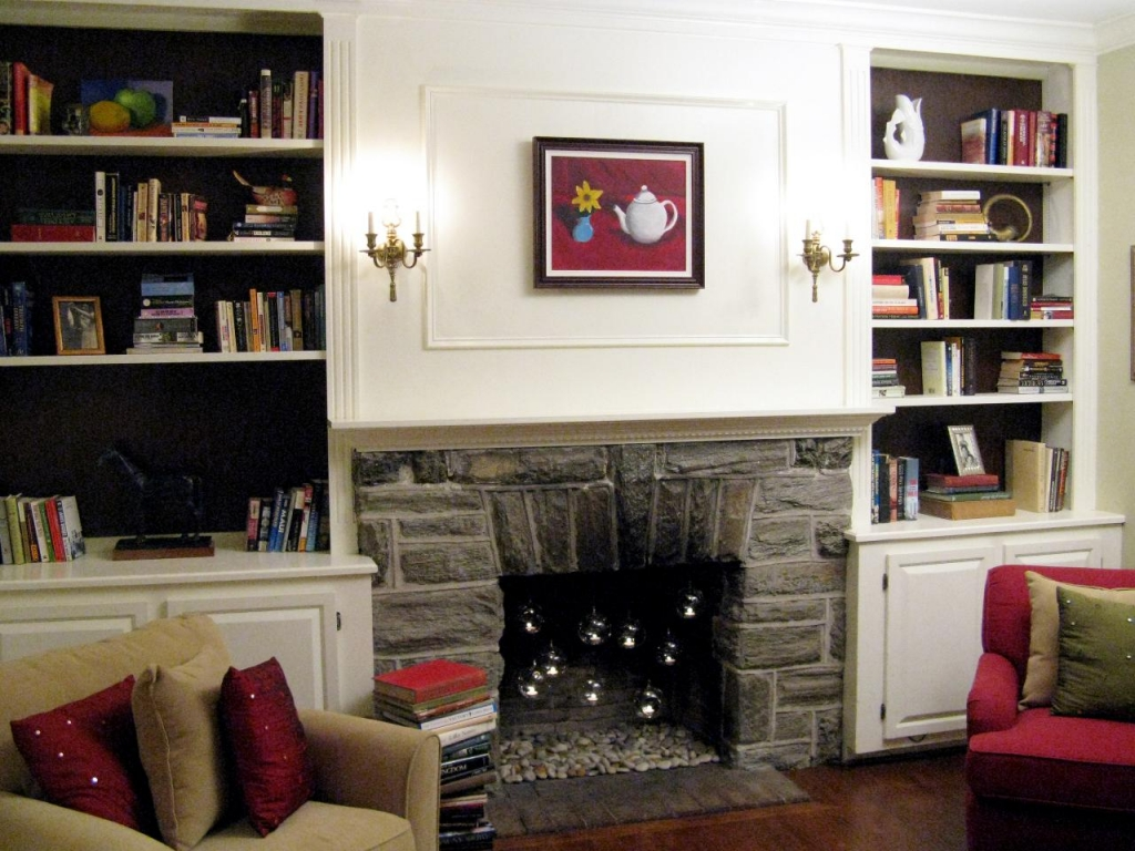 Image of: built in bookshelves decorating ideas