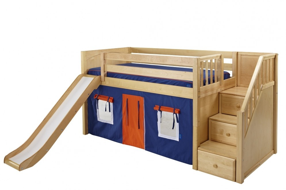 Image of: Bunk Beds With Slide And Stairs