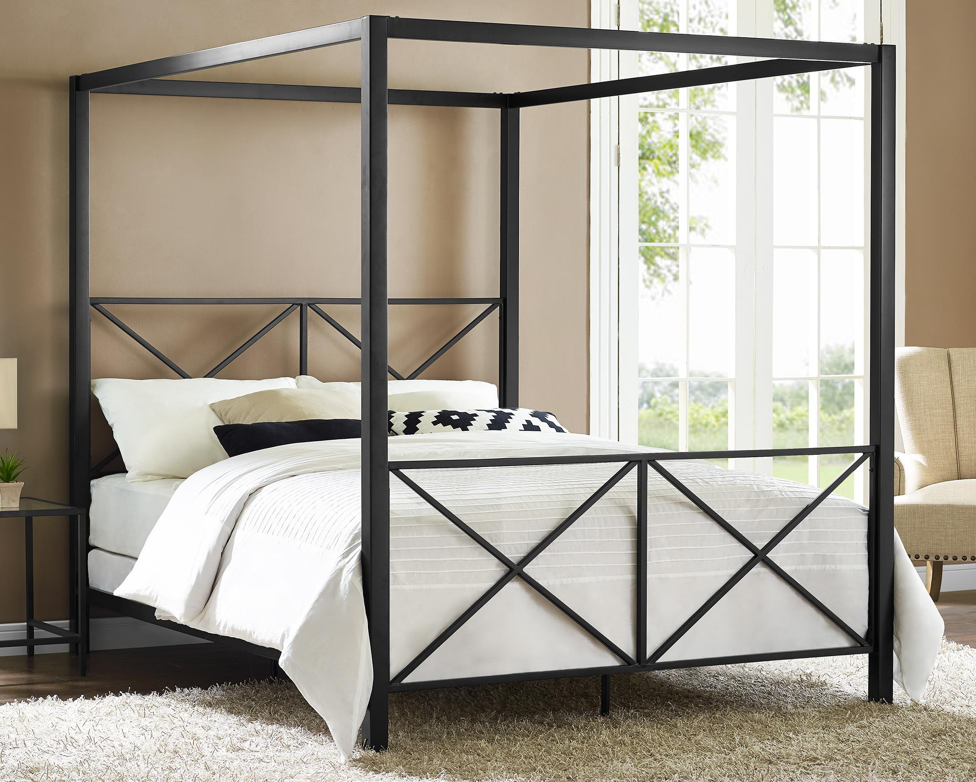 Image of: Canopy Bed Frame King