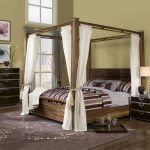 Canopy Bed Frame Queen Cheap
