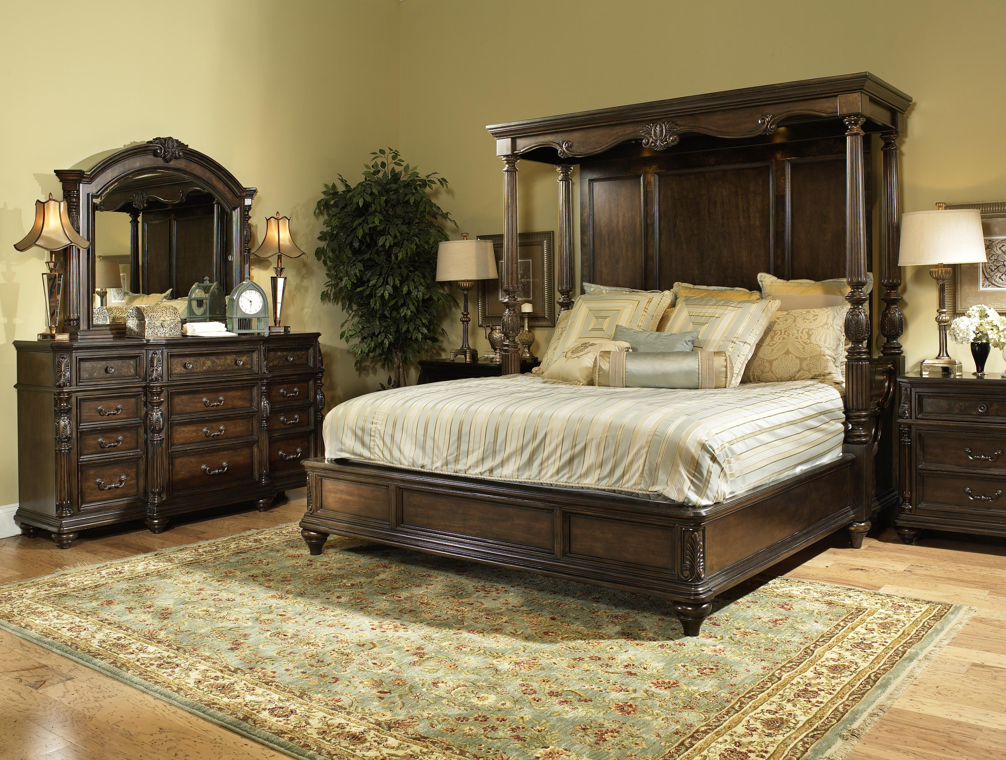 Image of: Canopy Bed Frame Wood