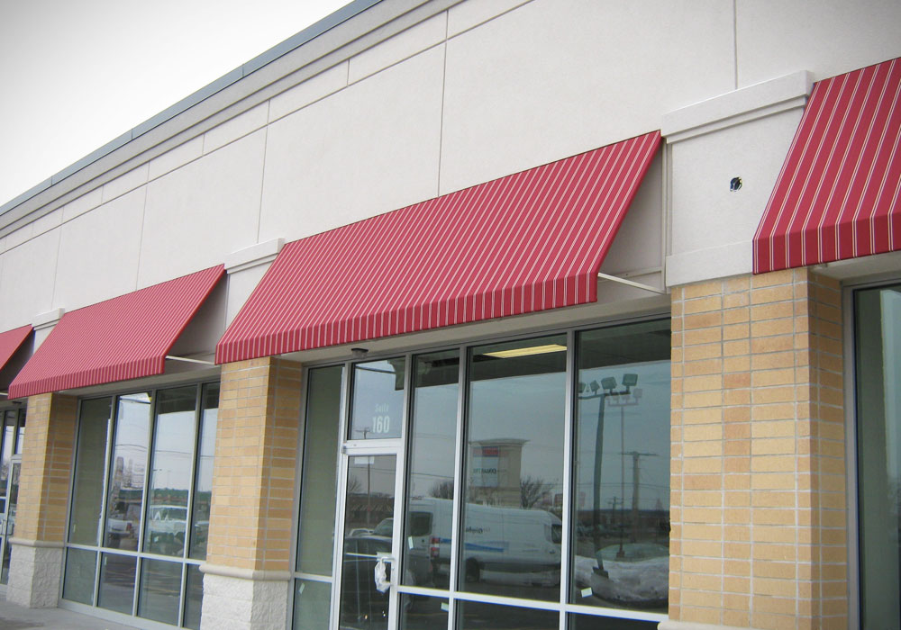 Image of: Canvas Awnings Red