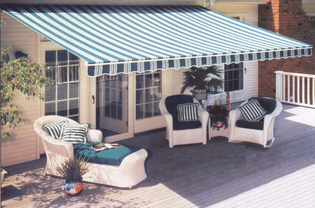 Image of: Canvas Awnings Stripes