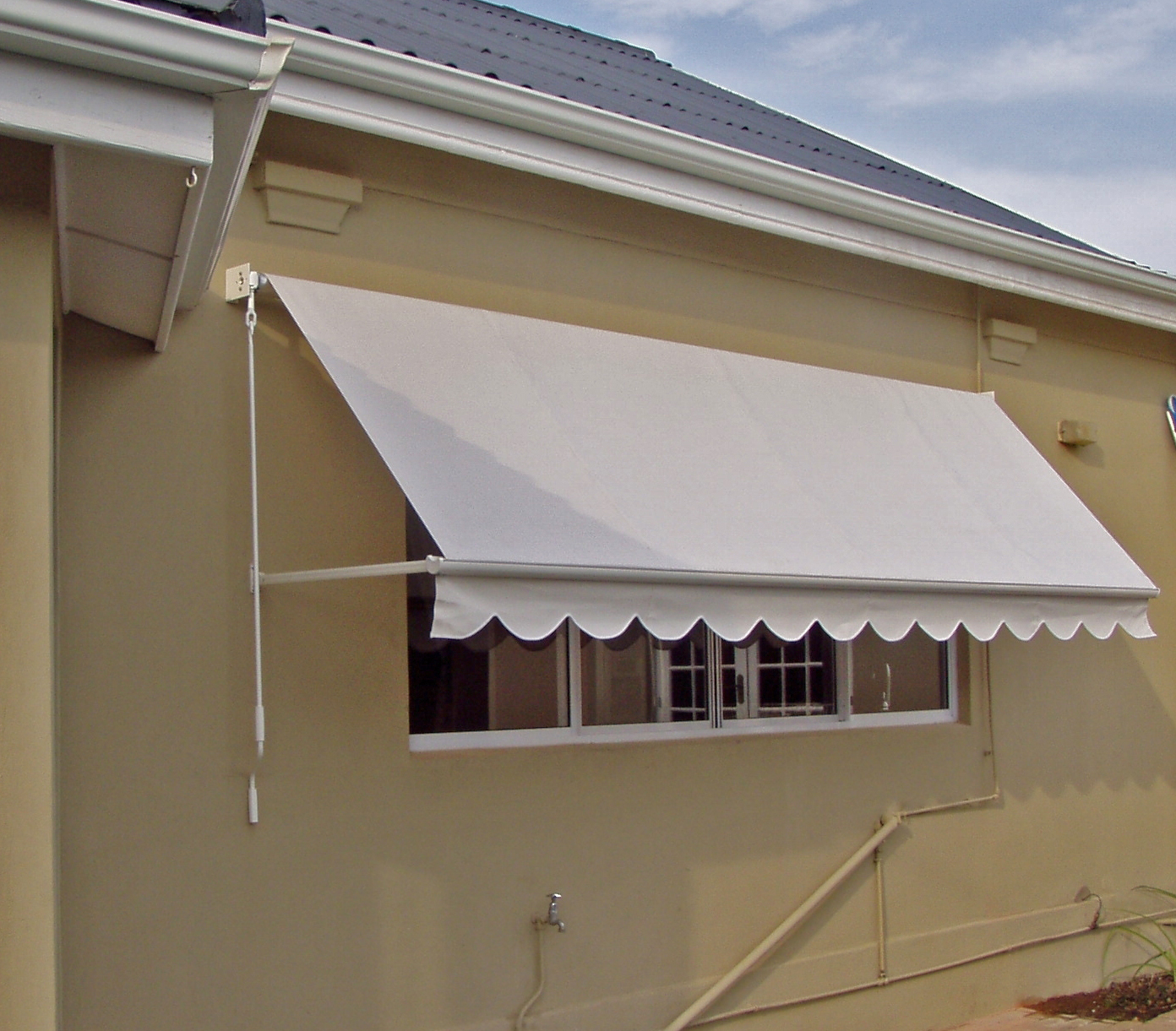 Image of: Canvas Awnings White