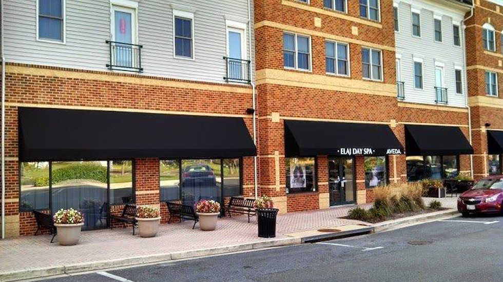Image of: Canvas Awnings in Black