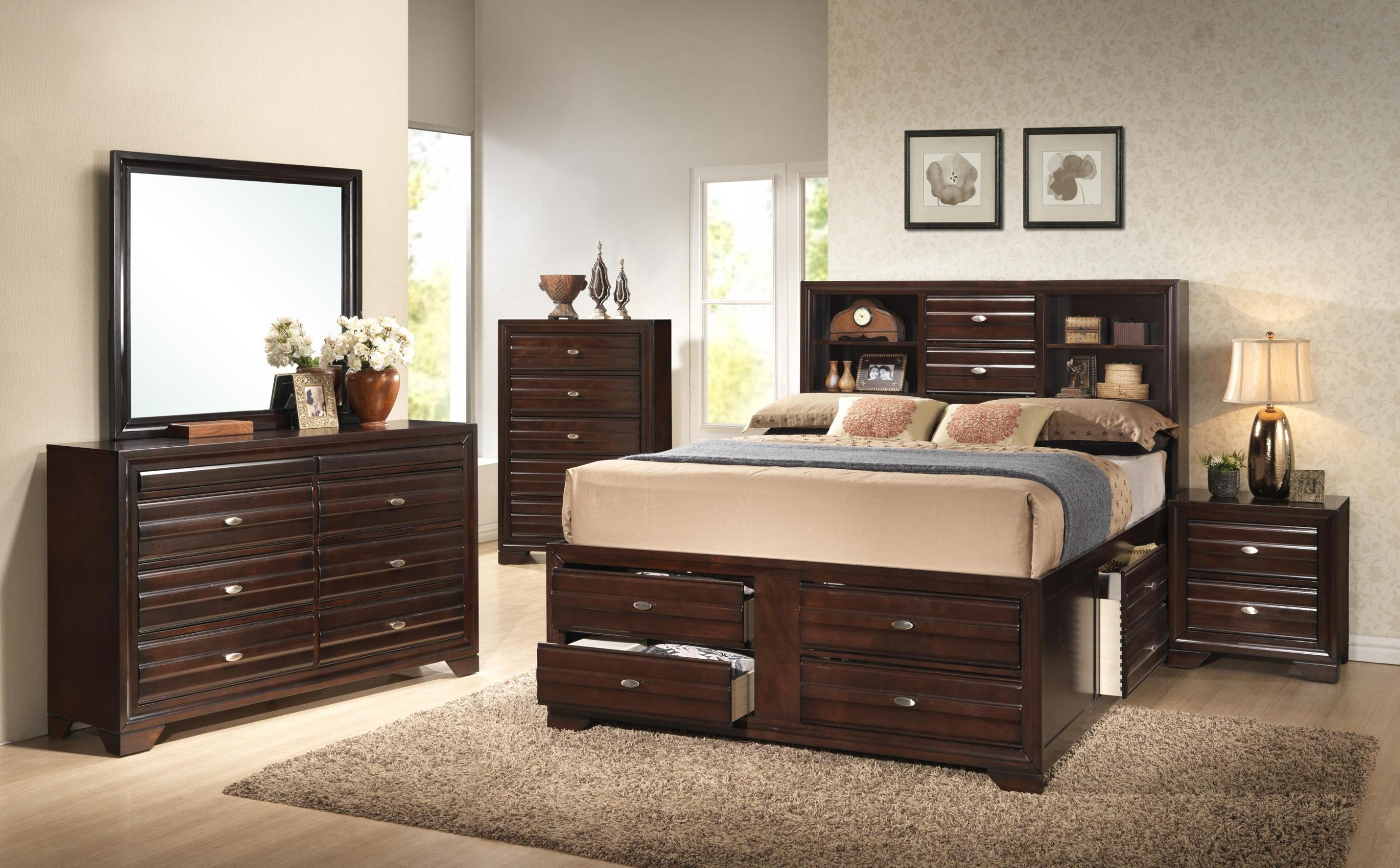 Image of: Captains Bed Queen Size