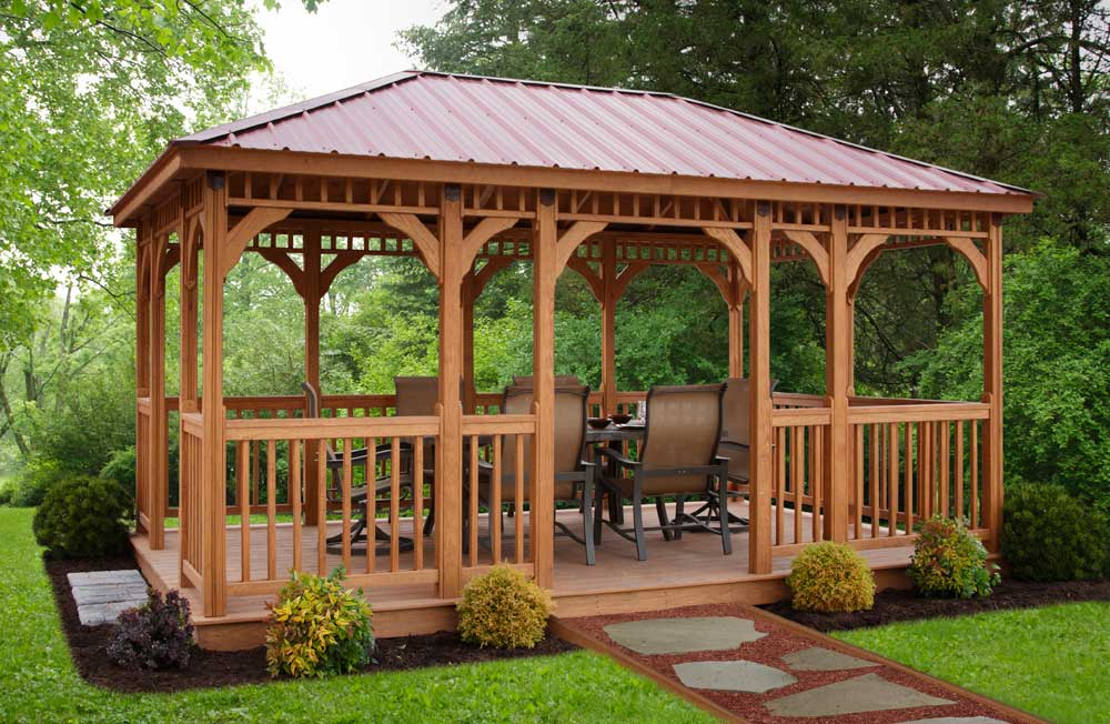 Image of: Cast Aluminum Gazebo