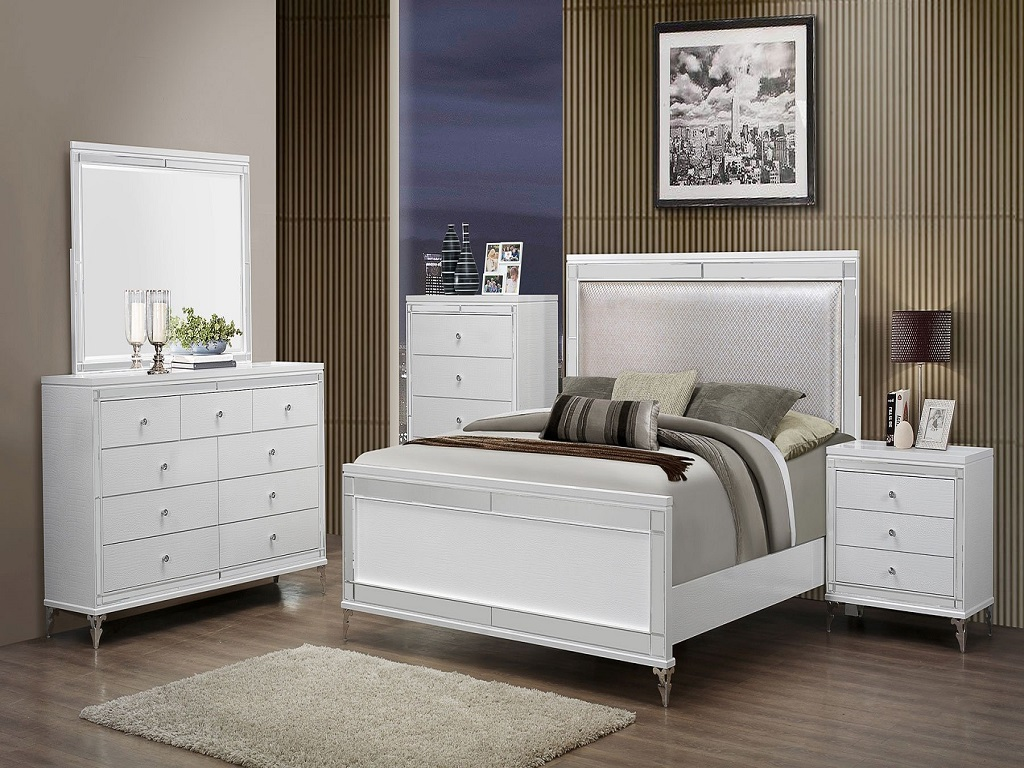 Image of: Catalina White Bedroom Set