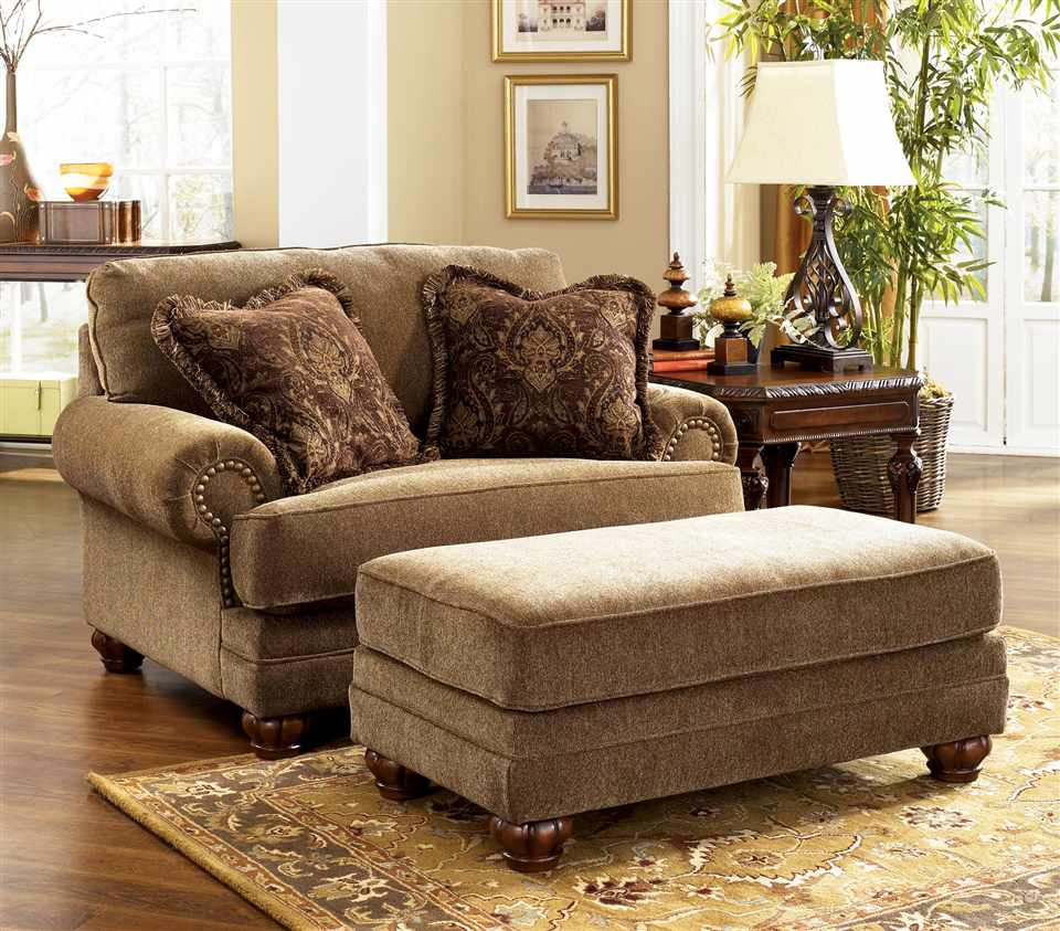 Image of: Chair and a Half Recliner Glider