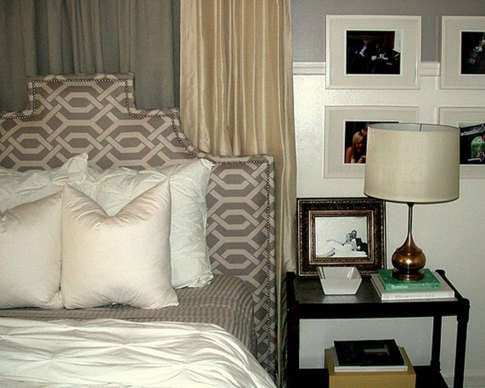 Image of: Charcoal Gray Upholstered Headboard