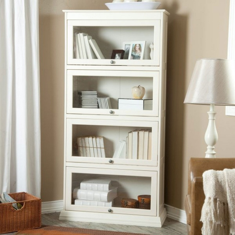 Image of: Charming Glass Front Bookcase