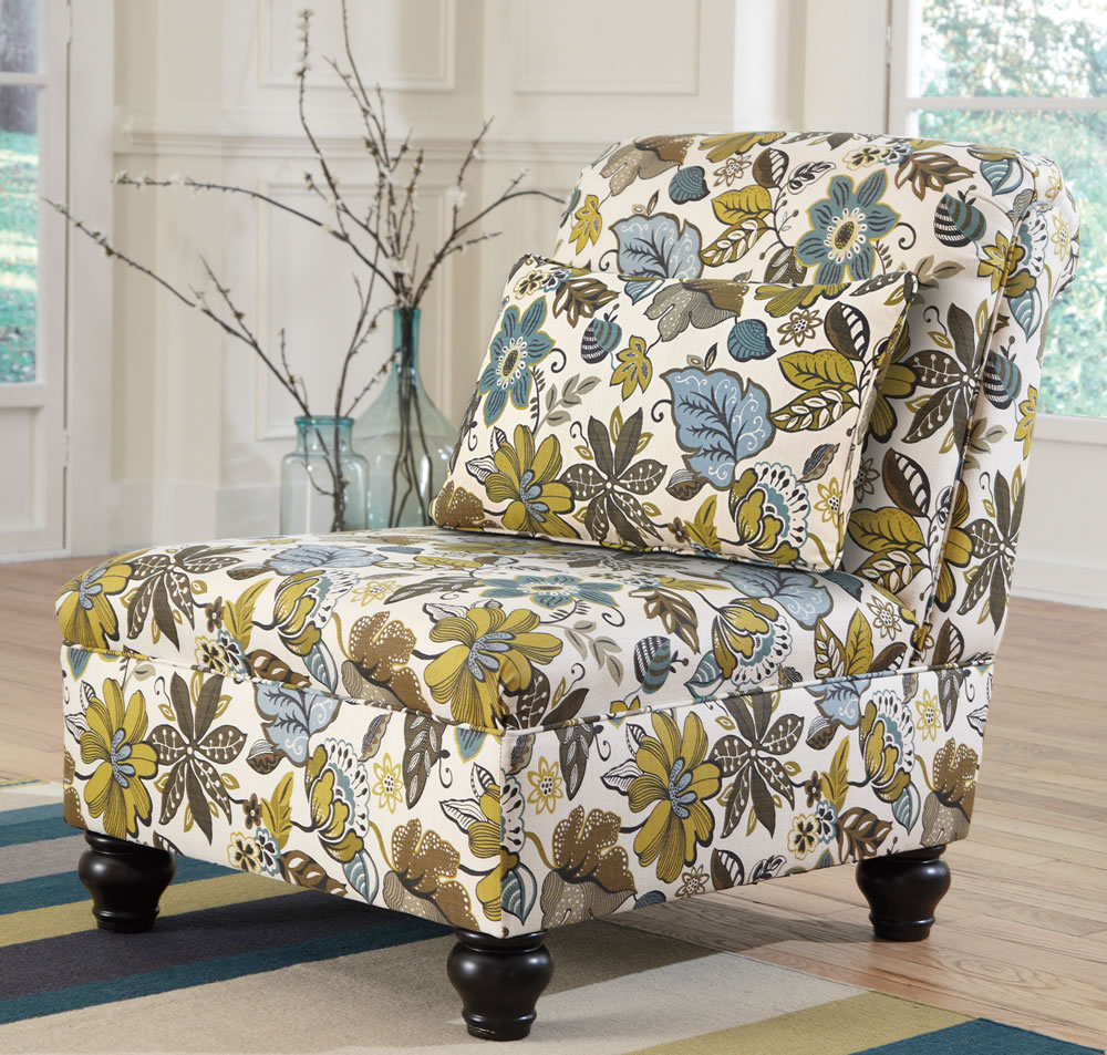 Image of: Cheap Floral Accent Chair