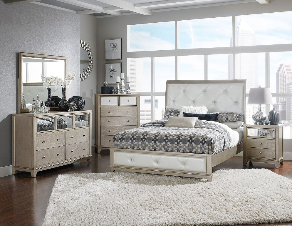 Image of: Cheap Tufted Bedroom Sets
