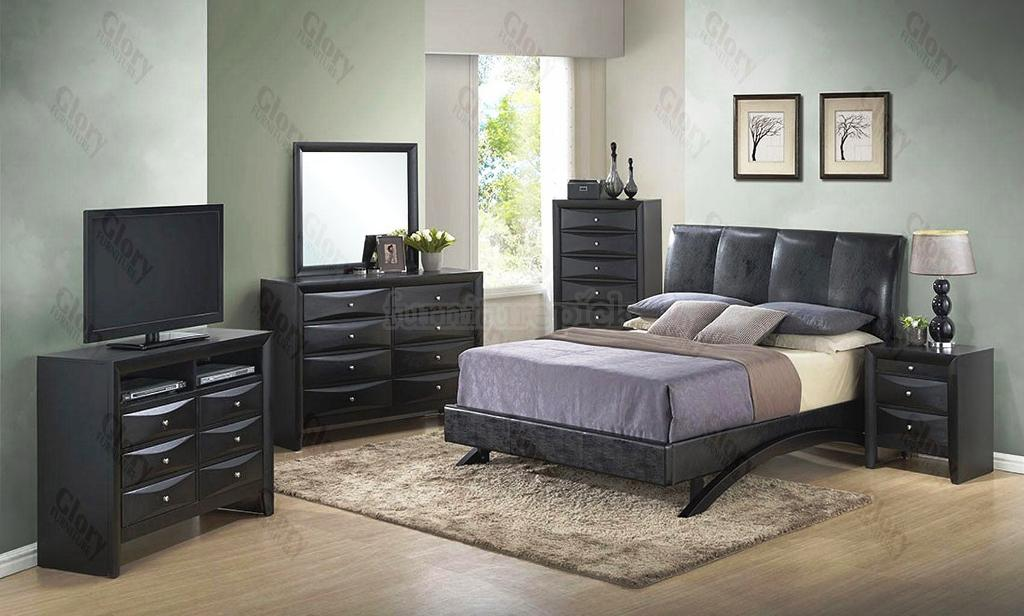 Image of: Cheap Upholstered Bedroom Sets