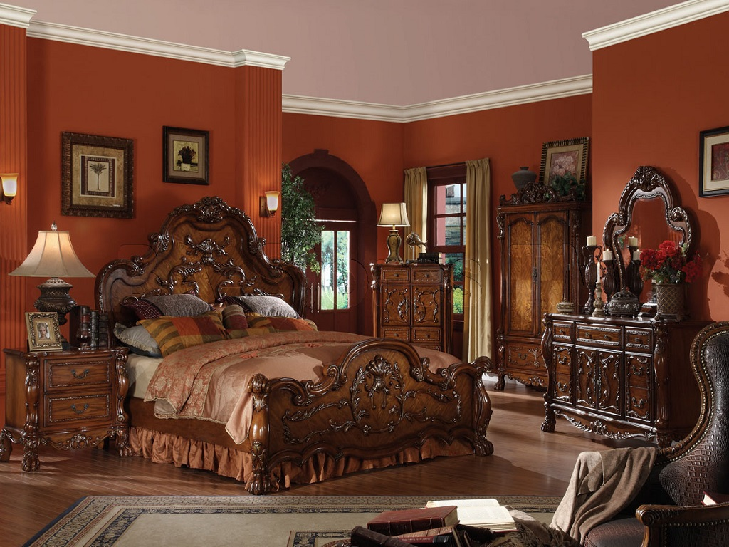 Image of: Cherry Bedroom Furniture Amish