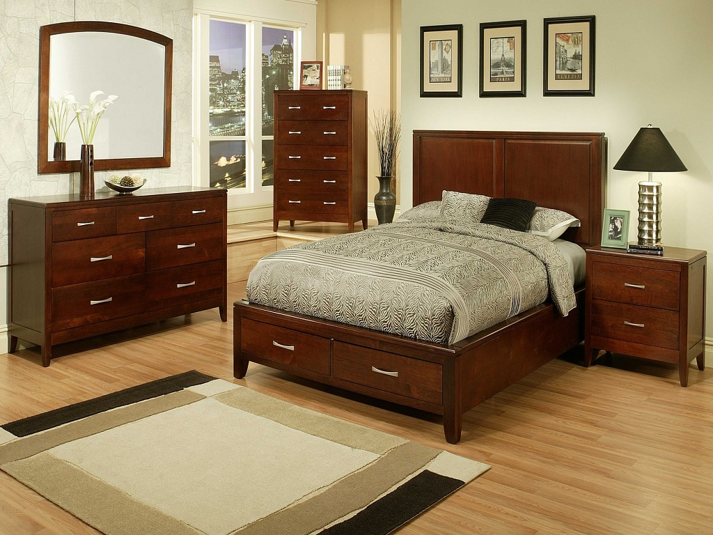 Image of: Cherry Bedroom Furniture Plans