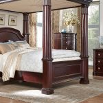 Cherry King Canopy Bedroom Sets