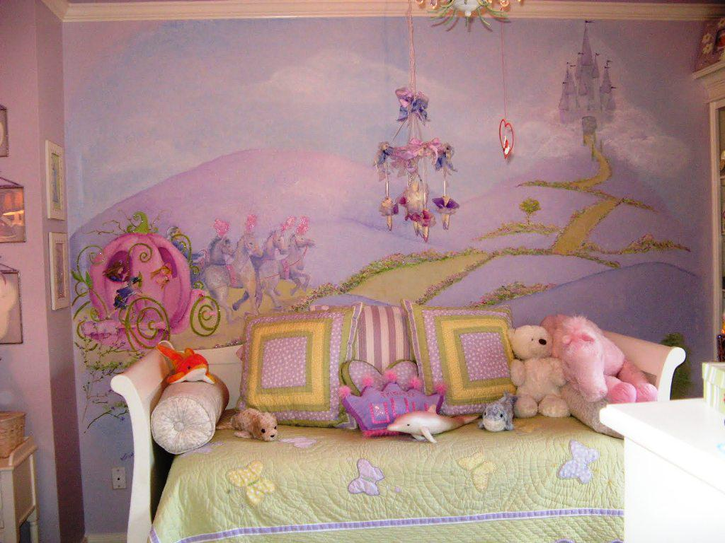 Image of: Childrens Bedroom Wall Mural