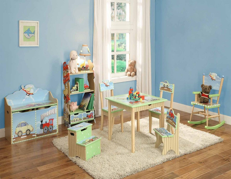 Image of: Childrens Bookcase Color