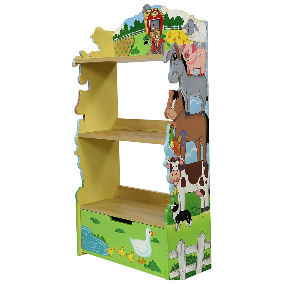 Image of: Childrens Bookcase Theme