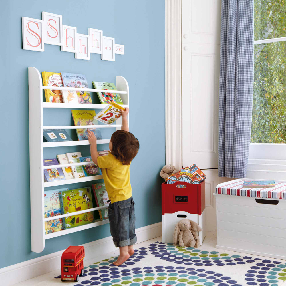 Image of: Childrens Bookcase Wall