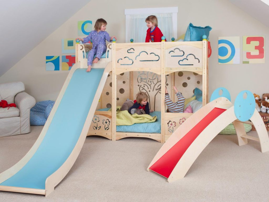Image of: Childrens Bunk Beds With Slide Uk