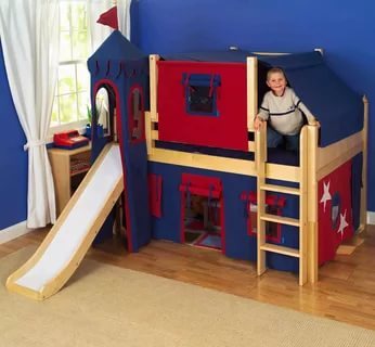 Image of: Childrens Bunk Beds With Slides