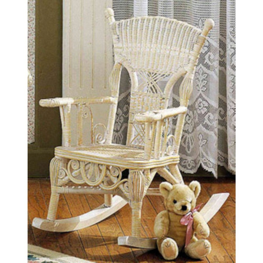 Image of: Childs Rocking Chair Wicker
