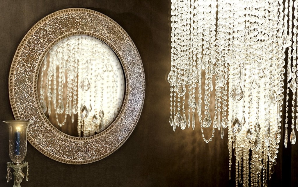 Image of: Circle Gold Wall Mirror
