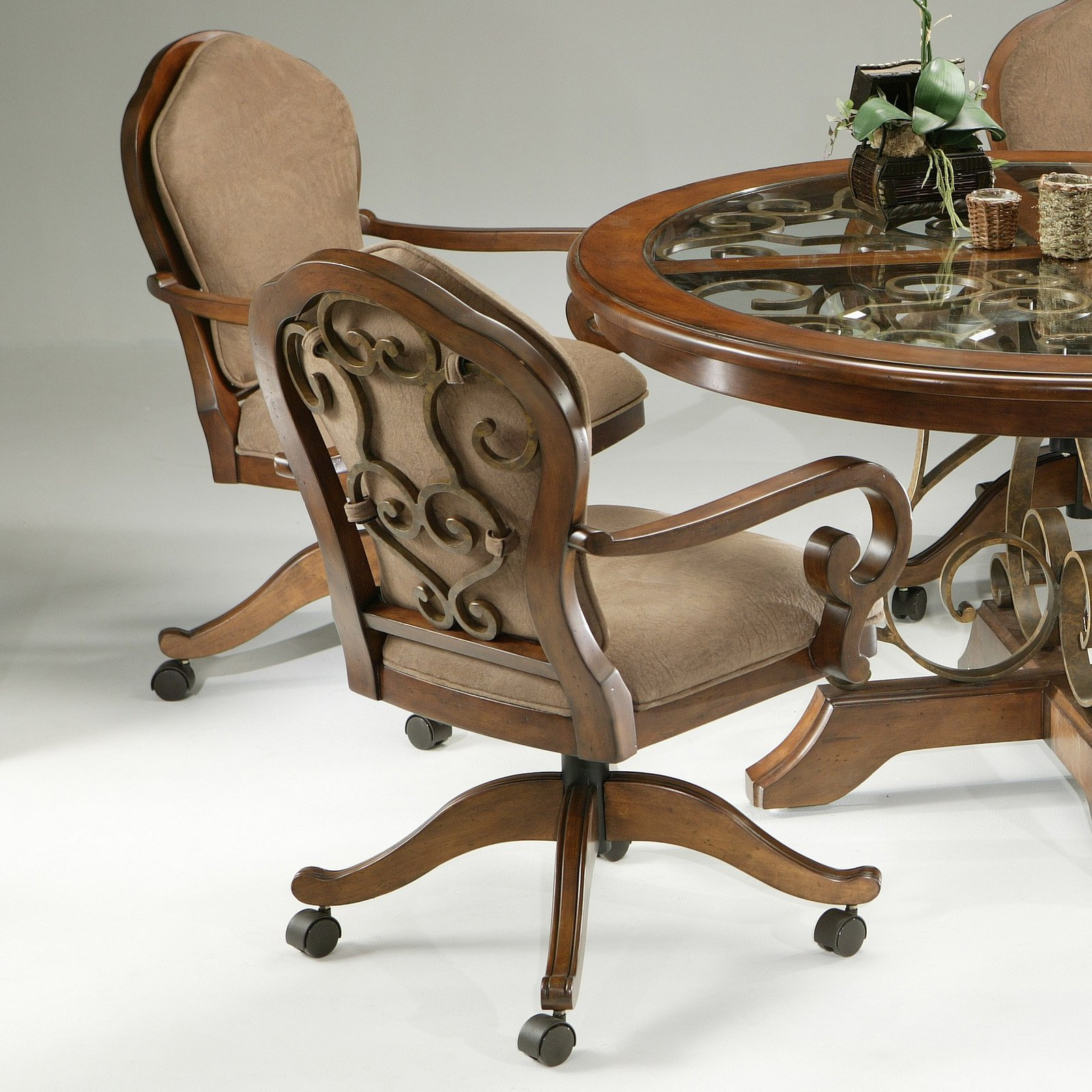 Image of: Classic Dining Room Chairs With Casters