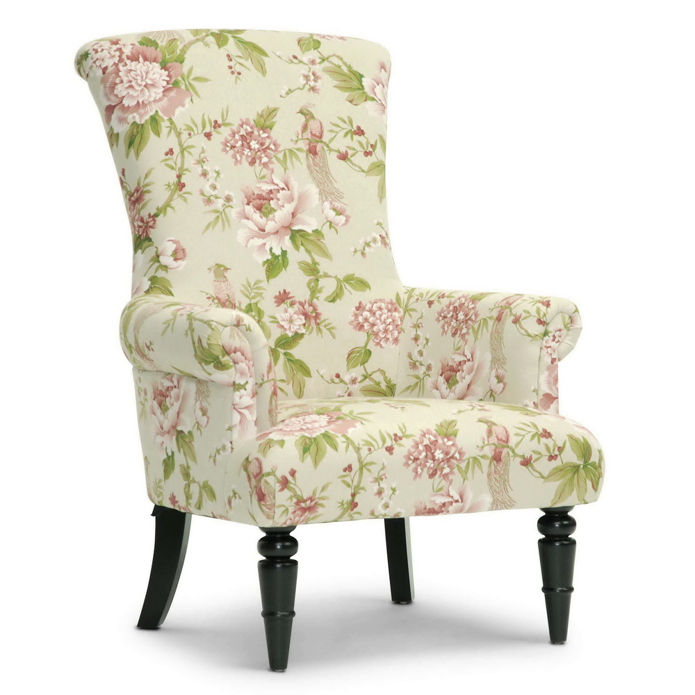 Image of: Classic Floral Accent Chair