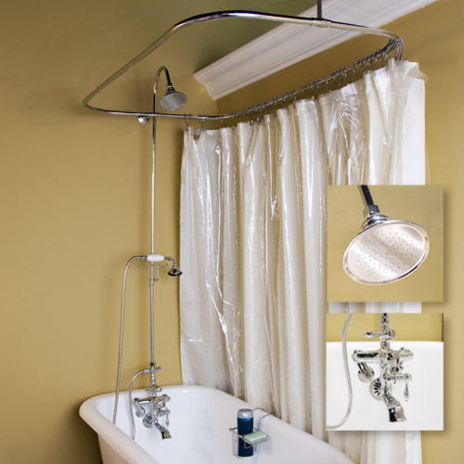 Image of: clawfoot tub shower image