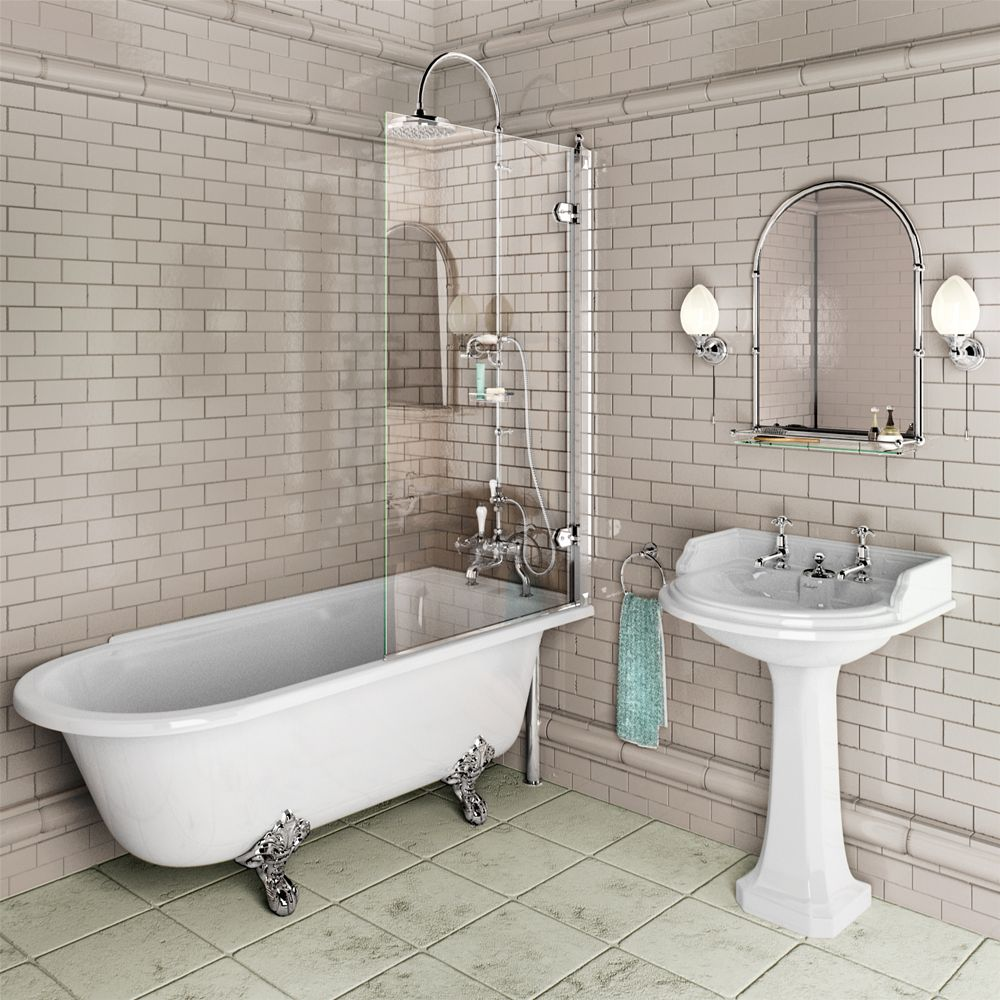Image of: clawfoot tub shower style