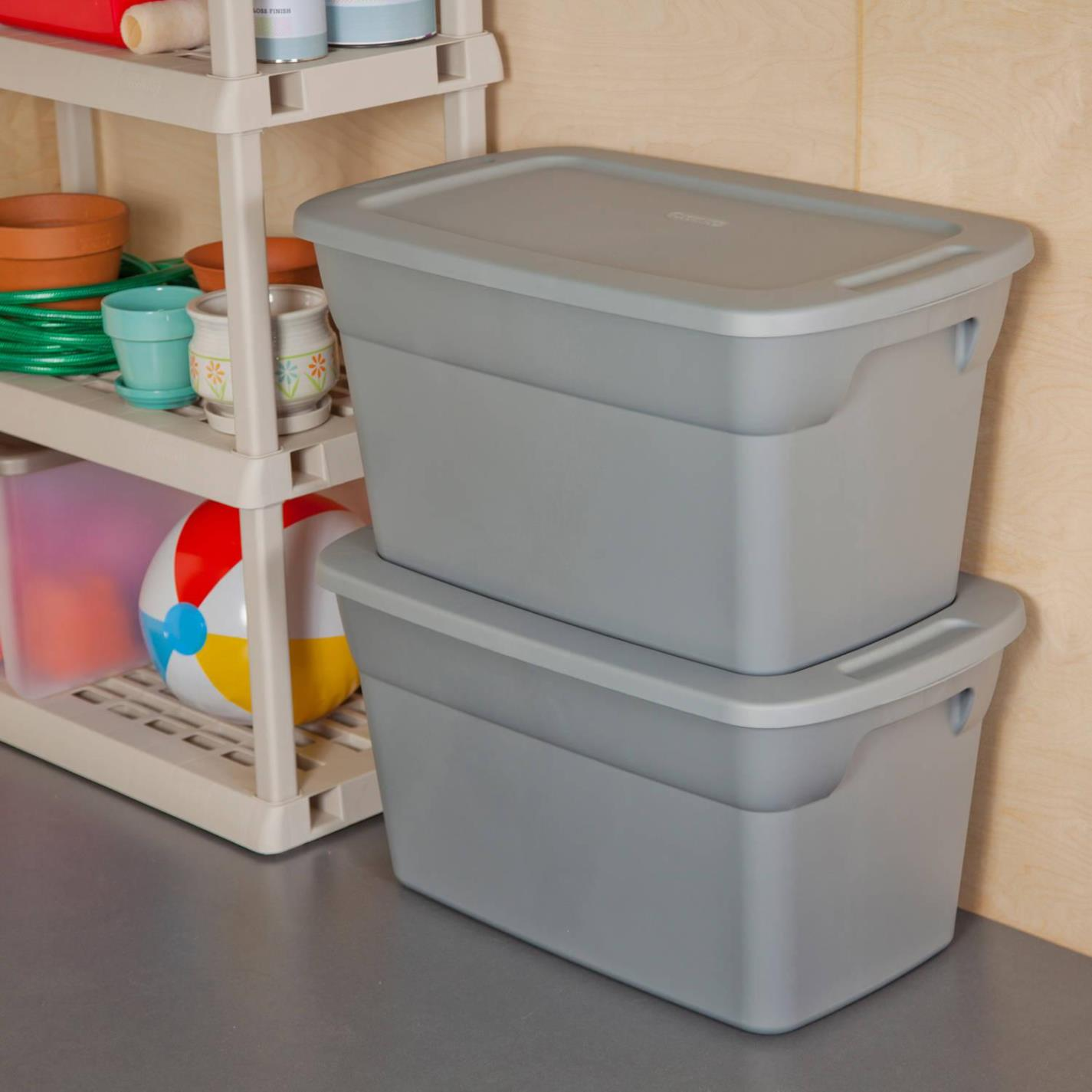 Image of: Clear Storage Bins With Lids