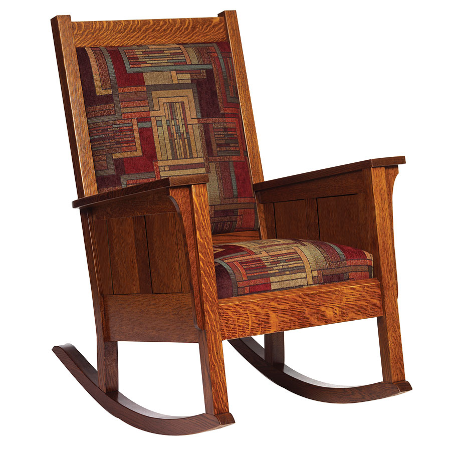 Image of: Color Mission Style Rocking Chair