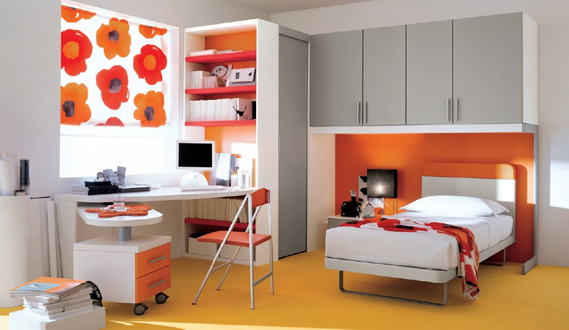 Image of: Colored Bedroom Sets Teenage