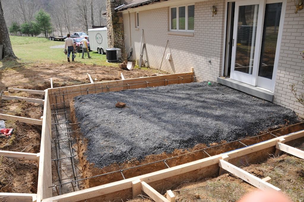 Image of: Concrete Deck Footings and Posts