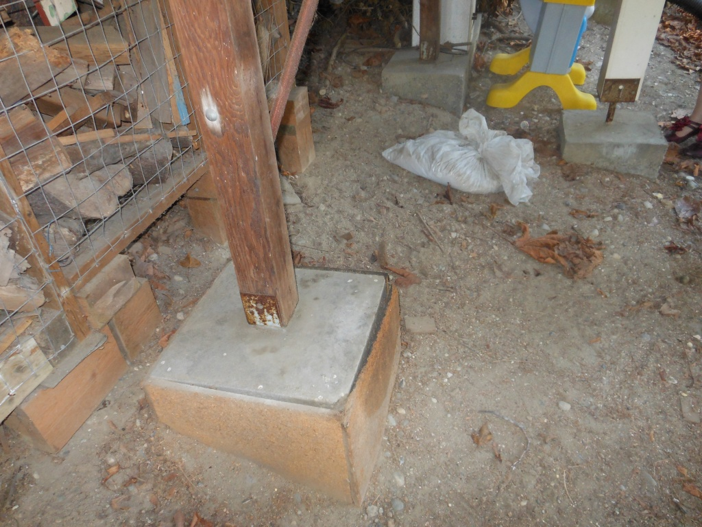 Image of: Concrete Deck Footings without Forms