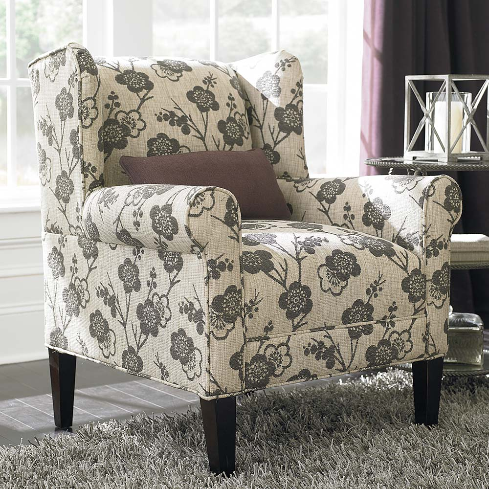 Image of: Contemporary Floral Accent Chair